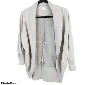 Wilfred Diderot Cocoon Grey Long Sleeve Cardigan S